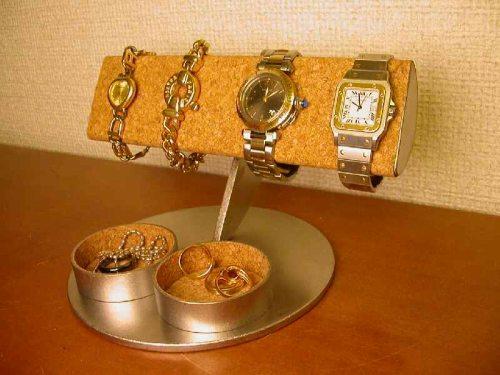 プレゼントに 腕時計収納 半円腕時計スタンドダブル丸トレイ