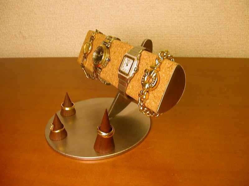 プレゼントに 腕時計スタンド 4本掛け半円スリーリングスタンドバージョン