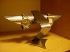誕生日に 腕時計スタンド デザイン4本掛け腕時計スタンド★ステンレス製