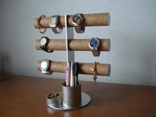誕生日に 腕時計スタンド 12本掛け腕時計収納タワー&小物入れ、ペンスタンド総合ディスプレイ