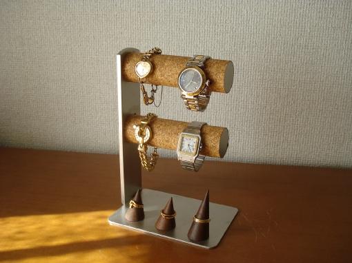 時計スタンド 4本掛け腕時計スタンド指輪スタンド付き★AK51