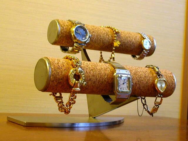 誕生日プレゼントに 段違い2段腕時計スタンド★AK41