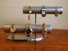 誕生日プレゼントに 腕時計スタンド 2段腕時計スタンド透明シートバージョン★AK99