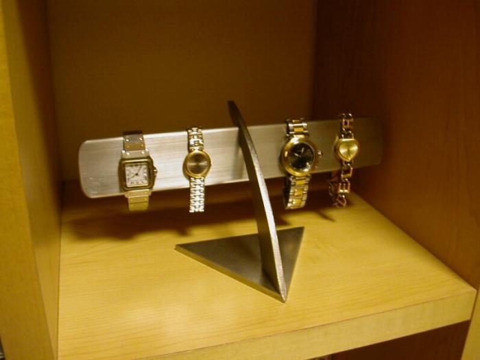 腕時計スタンド ステンレスバー4~6本掛け腕時計スタンド★AKD1