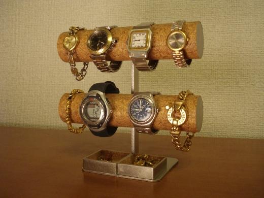 腕時計スタンド 8本掛けダブル角トレイスーパー腕時計スタンドAK452