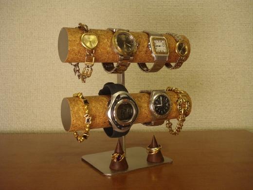 腕時計スタンド 8本掛けダブルリングスタンドパワフルスタンド★AK866