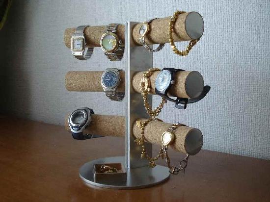時計スタンド 12本掛けシングル菱形トレイスーパーダイナミックスタンド★AK331