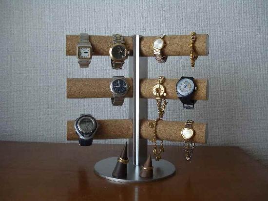 時計スタンド 12本掛け腕時計スタンドダブルリングスタンド★AK22 腕時計BOX