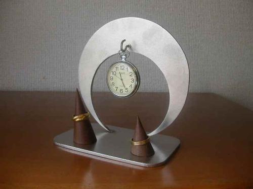 懐中時計スタンド 保管 懐中時計ダブルリングスタンド★CK7