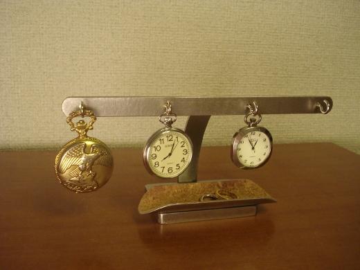 誕生日に 懐中時計収納 ロングトレイ4本掛けスタンド CK40