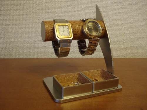 時計スタンド 腕時計 スタンド 誕生日プレゼント 新婚祝い 時計 スタンド ウォッチスタンド クリスマス ハロウイン 腕時計ラック 左利き 腕時計収納 腕時計飾る 腕時計を飾る 逆ハンドダブル角トレイ2本掛け腕時計スタンド