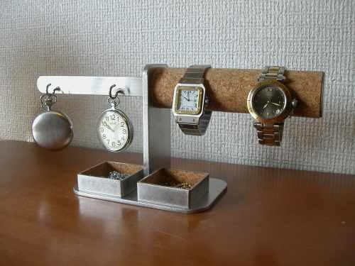誕生日プレゼントに 時計 懐中時計 スタンド ダブル腕時計、ダブル懐中時計スタンドダブル角トレイ付き DK3