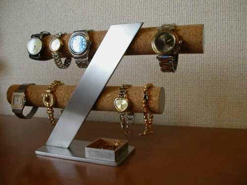 ウォッチスタンド 6~8本掛けインテリアスタンド角トレイ腕時計スタンド FK4