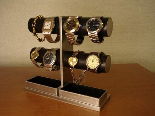 父の日 腕時計スタンド 送料無料オールブラック4~8本掛け腕時計スタンド AK7855