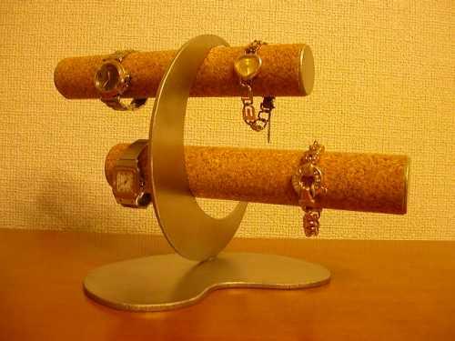 プレゼントに 腕時計収納 三日月互い違い6本掛け腕時計スタンド