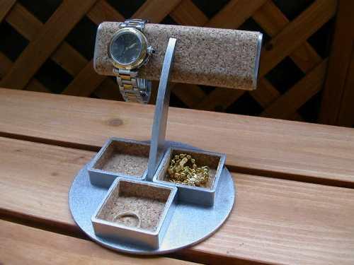 時計 収納 ケース 2本掛け角トレイ腕時計スタンド お買い得品 ギフト AK456