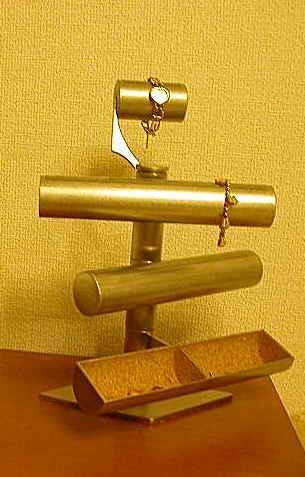 腕時計スタンド クールステンレス手動回転式トップウォッチ腕時計スタンド