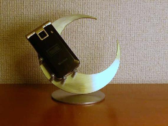 スマホ 飾る スタンド 三日月ムーン携帯電話スタンド DW87