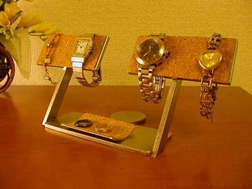 プレゼントに 腕時計スタンド 4本ウォッチどまんなかトレイ!腕時計スタンド AK5665