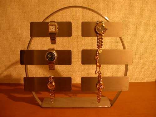 誕生日プレゼントに 時計スタンド 丸型ステンレスバー腕時計スタンド AK3322
