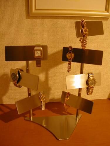 腕時計スタンド ステンレスバーマンハッタン腕時計スタンド AK172
