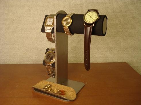 ウォッチスタンド 天然スポンジゴム腕時計スタンド ロングトレイ AK5399