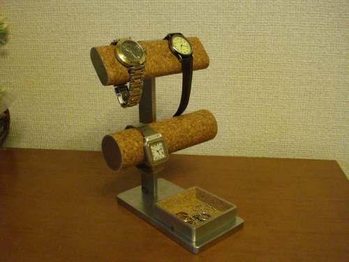 時計スタンド 腕時計 スタンド 腕時計スタンド プレゼント 腕時計スタンド ギフト ウオッチスタンド 贈り物 誕生日プレゼント 腕時計 飾る 時計 インテリア 腕時計 収納 だ円&丸パイプ ゴムバンド腕時計を飾れる腕時計スタンド AK093