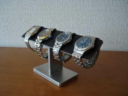 父の日プレゼント 4本掛けバー腕時計スタンド ブラックコルクバージョン
