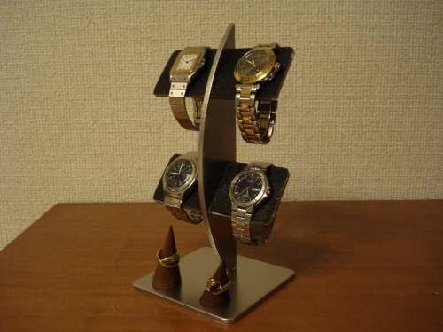 腕時計スタンドで お気に入りの腕時計を飾ってみませんか?AKデザインの時計スタンド オーダーメイドも承ります ハンドメイドで丁寧に作っています 時計スタンド 腕時計 スタンド 誕生日プレゼント 新婚祝い 時計 ウォッチスタンド 腕時計収納 アクセサリースタンド ハロウイン クリスマス ブラックコルクバーリングスタンド付き腕時計スタンド 大特価!! メーカー公式 腕時計飾る 腕時計ラック 腕時計を飾る
