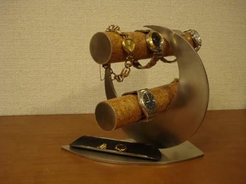 父の日 ウォッチスタンド ブラックトレイムーン腕時計スタンド