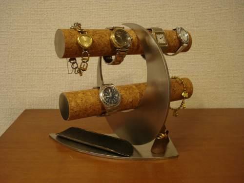 時計スタンド 腕時計 スタンド 8本用 時計 スタンド 腕時計スタンド ウォッチスタンド 時計置き ディスプレイスタンド 国産 ギフト 誕生日プレゼント 贈り物 腕時計スタンド ノベルティー 時計スタンドギフト   三日月ブラックロングトレイ、リングスタンド腕時計スタンド