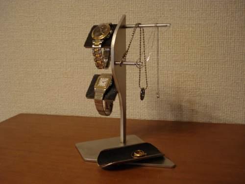 誕生日プレゼントに 腕時計スタンド ブラックコルクバーアクセサリーディスプレイスタンド