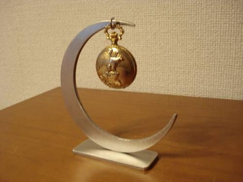 父の日 懐中時計スタンド 三日月デザイン懐中時計ディスプレイスタンド