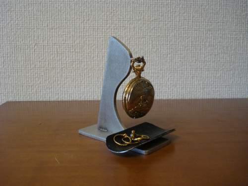 父の日 懐中時計スタンド 変り種懐中時計スタンド ブラックトレイ KD67