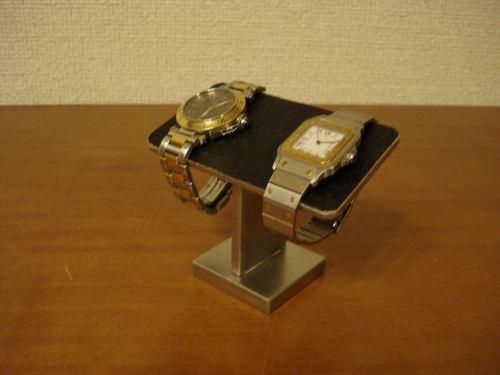 プレゼントに ウォッチスタンド ステンレスバーブラックコルクバージョン腕時計スタンド WS4512