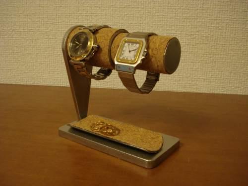 父の日 腕時計スタンド 太パイプ、細パイプ連結ウォッチスタンド ハーフパイプトレイ WS409