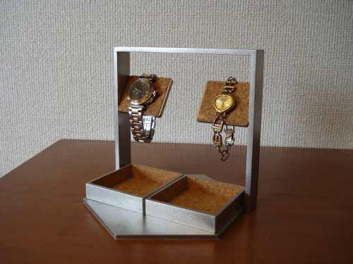プレゼントに 腕時計スタンド でかいトレイアクセサリー収納ケース風腕時計スタンド WSD9600