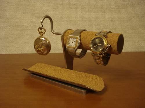 腕時計スタンド 腕時計、懐中時計ロングトレイスタンド