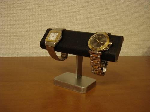 誕生日に ウォッチスタンド だ円ブラック腕時計スタンド