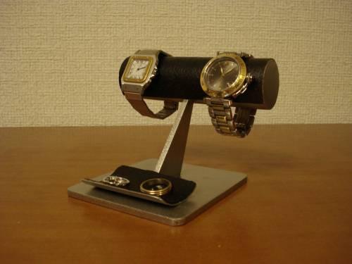 誕生日プレゼントに 腕時計スタンド するっとしたブラック腕時計スタンド