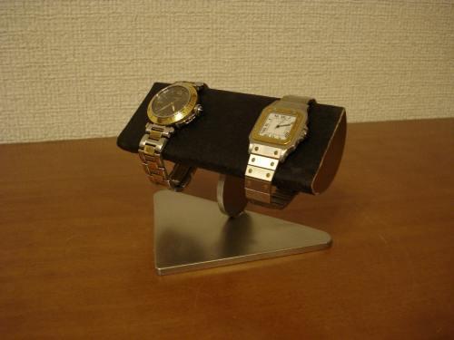 時計スタンド 腕時計 スタンド 2本用 誕生日プレゼント ノベルティ ウォッチスタンド ケース 時計置き 時計ケース ディスプレイスタンド 記念品 ギフト 贈り物 時計 飾る 腕時計 収納 送料無料 ブラックコルク半円2本掛け腕時計スタンド