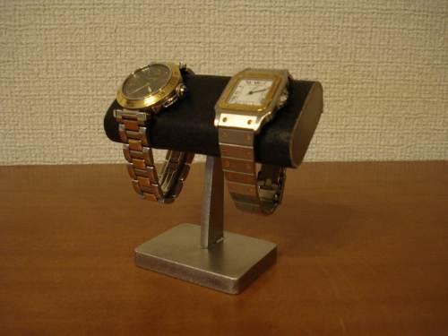 時計スタンド 腕時計 スタンド 誕生日プレゼント 新婚祝い 時計 スタンド ウォッチスタンド クリスマス ハロウイン 腕時計ラック 腕時計収納 腕時計飾る 腕時計を飾る 送料無料小粒なブラック2本掛け腕時計スタンド WSD5434