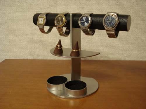 父の日に 時計スタンド 送料無料ブラックアクセサリースタンド BAS1