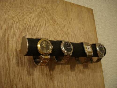 腕時計スタンド 送料無料ブラック4本掛けウォッチ収納スタンド BWS67