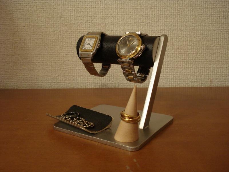 腕時計スタンド 送料無料ブラック腕時計&アクセサリー収納、保管スタンド