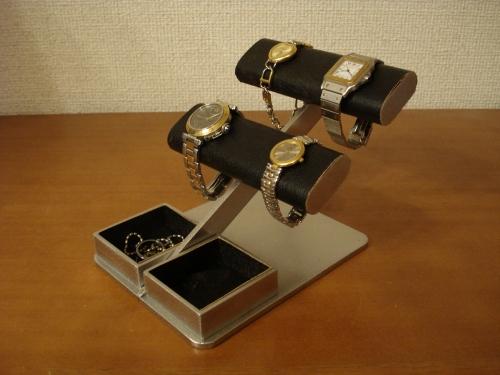 誕生日プレゼントに 時計スタンド 送料無料ブラック4本掛け時計収納ケース風腕時計スタンド AKD77