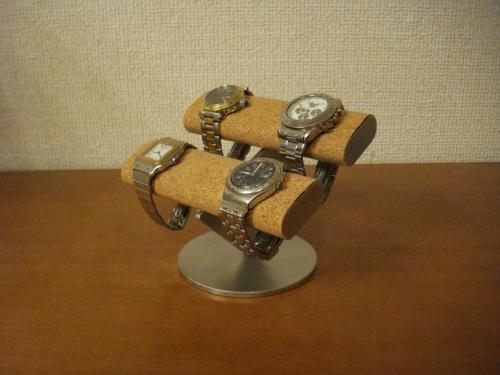 腕時計スタンドで お気に入りの腕時計を飾ってみませんか?AKデザインの時計スタンド 使い勝手の良い オーダーメイドも承ります ハンドメイドで丁寧に作っています 送料無料4本掛け楕円腕時計スタンド 時計スタンド 5☆好評 父の日に