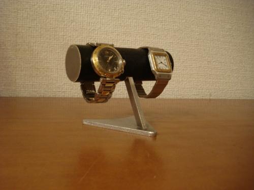 腕時計スタンド ブラック2本掛けデザイン腕時計スタンド BDW885