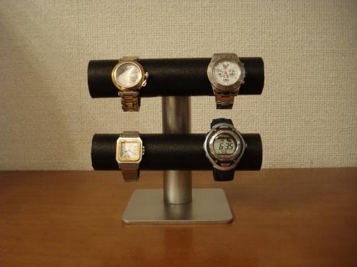誕生日プレゼントに 時計飾る 飾る向きを変えれるブラック手動式腕時計スタンド RAT556