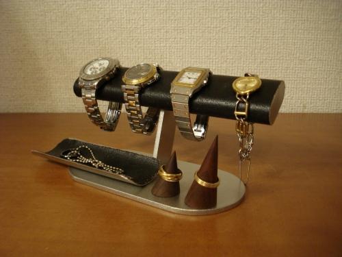 腕時計スタンド 腕時計、リング、小物入れブラックアクセサリースタンド